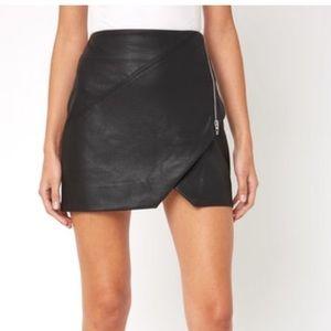 Blank NYC Faux Leather Zip Mini Skirt (B)
